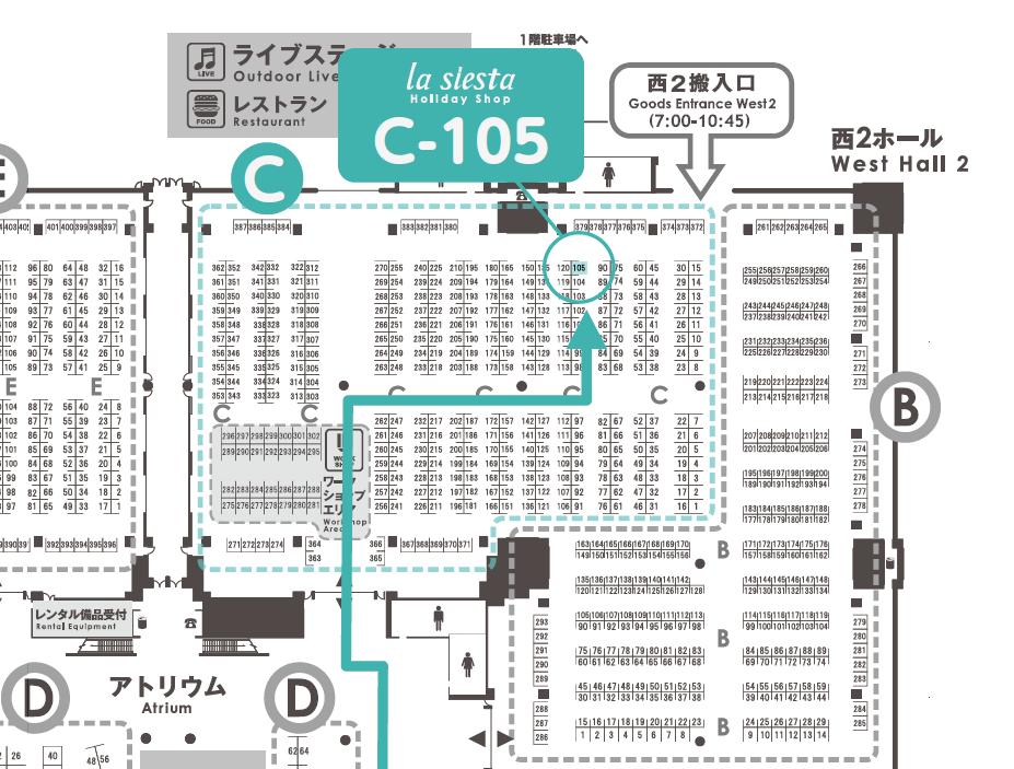 デザインフェスタの会場マップ_拡大