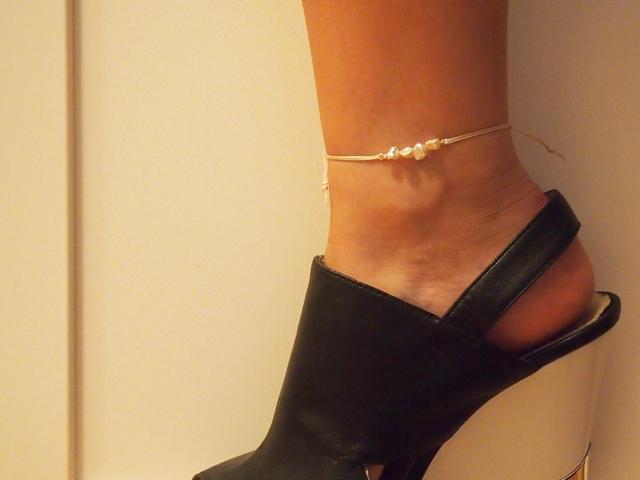 white anklet